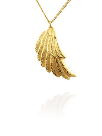 Gold Wing Necklace - IndependentBoutique.com