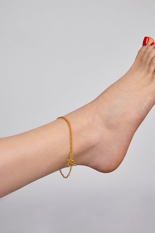 Gold Heston Anklet by Alison Fern Jewellery | IndependentBoutique.com