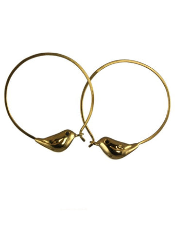 Golden Sparrow Hoop Earrings