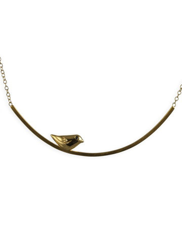 Golden Sparrow Necklace - IndependentBoutique.com