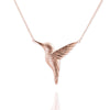 Rose Gold Hummingbird Necklace - IndependentBoutique.com