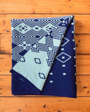 Folded Blue Fairisle Scottish Lambswool Blanket by Mixter Maxter | IndependentBoutique.com