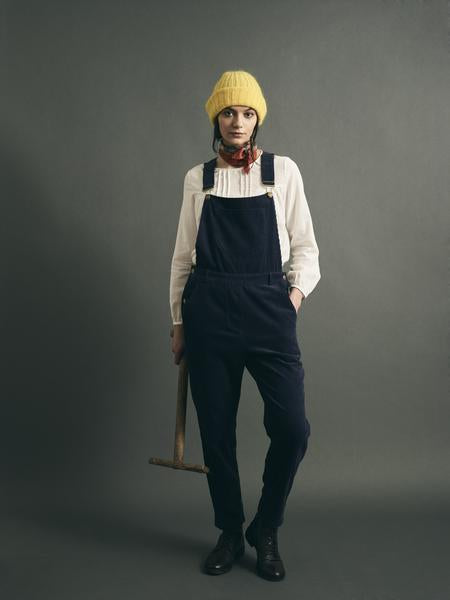 Navy Corduroy Dungarees - IndependentBoutique.com