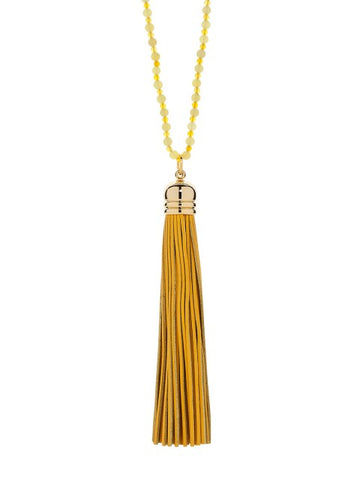 Lemon Tassel Necklace - IndependentBoutique.com