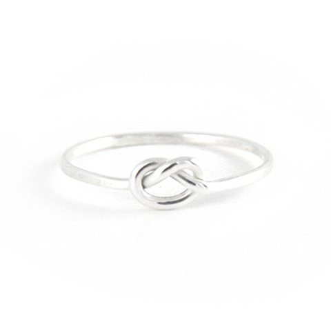Forget Me Knot - Sterling Love Knot Stacking Ring