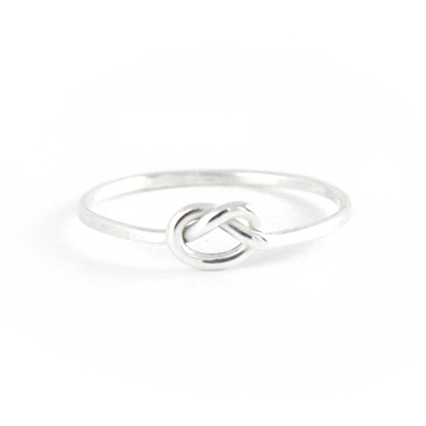 Forget Me Knot - Sterling Love Knot Stacking Ring - IndependentBoutique.com