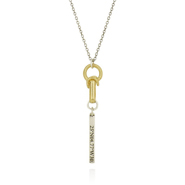 Gold & Silver Articulated Love Pendant Necklace - IndependentBoutique.com