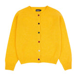 Yellow Boxy Lambswool Cardigan