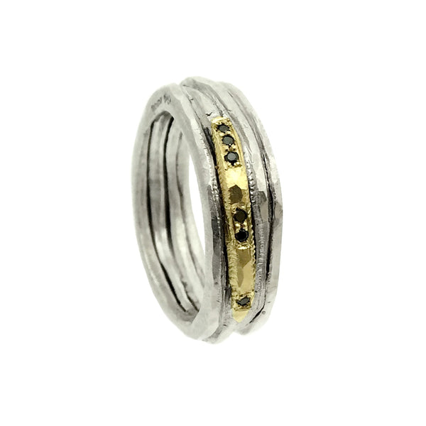 Sula Lux Black Diamond Wide Band - IndependentBoutique.com