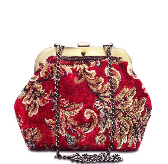 Classic reticule framed purse - Red - IndependentBoutique.com