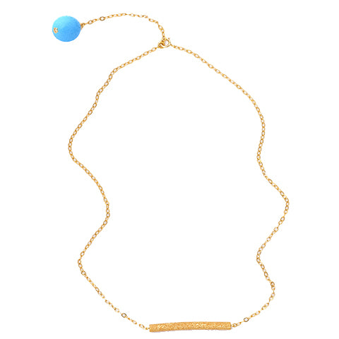 Turquoise Bar Gold Plated Necklace