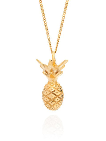 Miami Pineapple Necklace - Gold - IndependentBoutique.com