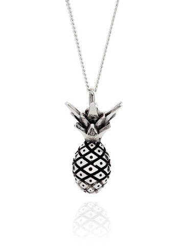 Miami Pineapple Necklace - Silver - IndependentBoutique.com