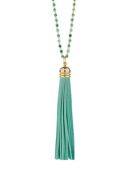 Mint Sorbet Tassel Necklace - IndependentBoutique.com