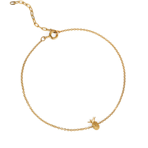 Pineapple Bracelet - Gold Vermeil - IndependentBoutique.com