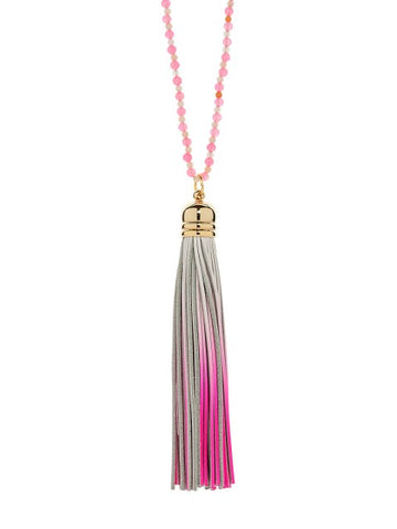 Pink Sorbet Tassel Necklace - IndependentBoutique.com