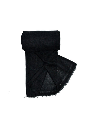Unisex Cashmere Warm Scarf : Charcoal
