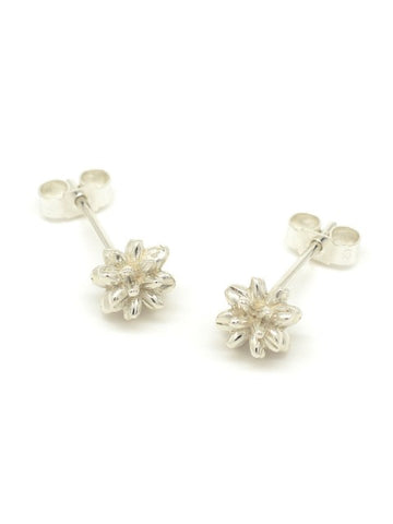 Pollen Stud Earrings Silver