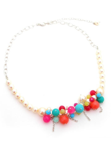 Multi pearl statement necklace