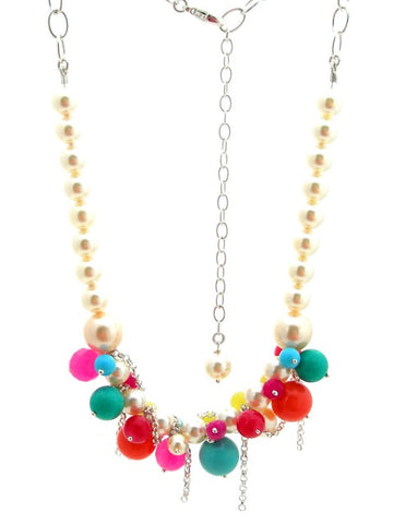 Multi pearl statement necklace - IndependentBoutique.com