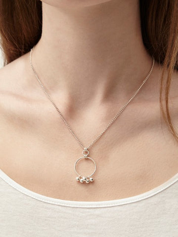 Robyn Silver Circle and Charm Necklace - IndependentBoutique.com