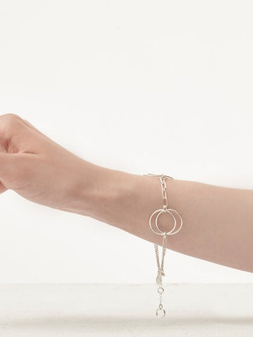 Silver Ruth Circles Hoop Bracelet - IndependentBoutique.com