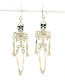 Ossibus Skeleton Silver Earrings