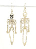 Ossibus Skeleton Silver Earrings - IndependentBoutique.com
