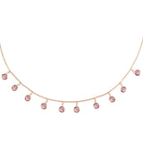 Pink & Rose Gold Necklace