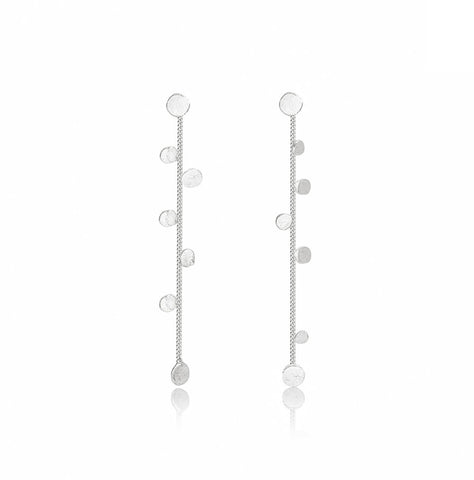 Stardust Sterling Silver Drop Earrings - IndependentBoutique.com