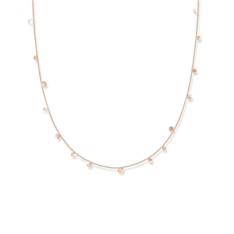 Scattered Dots Solid Rose Gold Dot Necklace