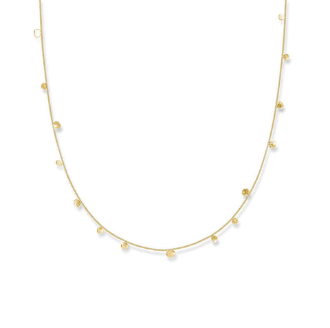 Scattered Dots Solid Gold Dot Necklace - IndependentBoutique.com