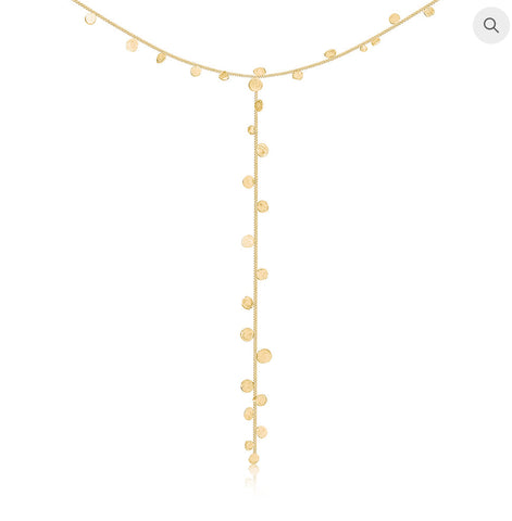 Stardust Falling Stars Gold Lariat Necklace