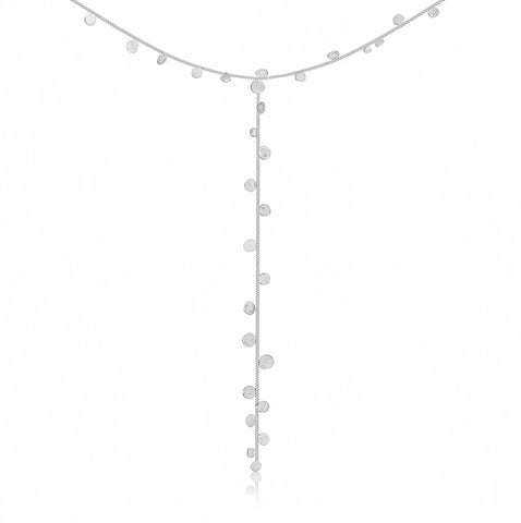 Stardust Falling Stars Sterling Silver Lariat Necklace - IndependentBoutique.com