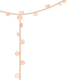 Stardust Falling Stars Rose Gold Lariat Necklace - IndependentBoutique.com