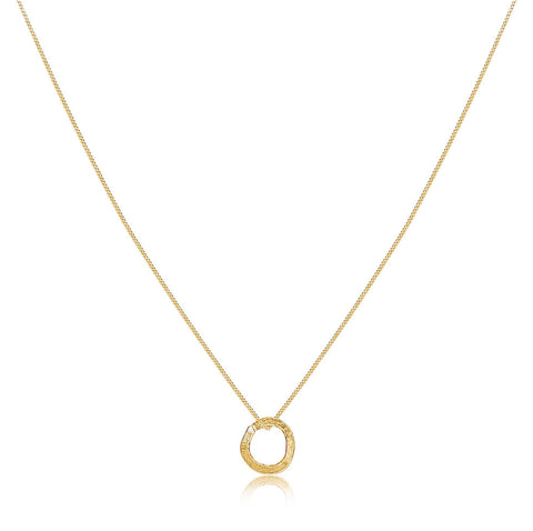 Gold Karma Circle Necklace - IndependentBoutique.com