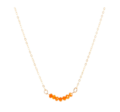 Carnelian Bar Necklace - IndependentBoutique.com