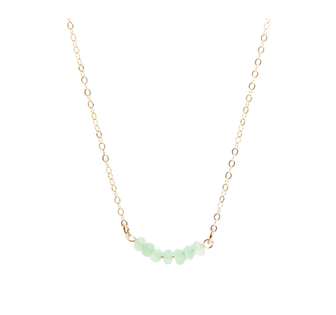 Chrysoprase Bar Necklace - IndependentBoutique.com