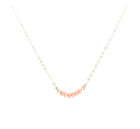 Coral Bar Necklace