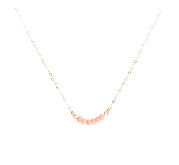 Coral Bar Necklace - IndependentBoutique.com