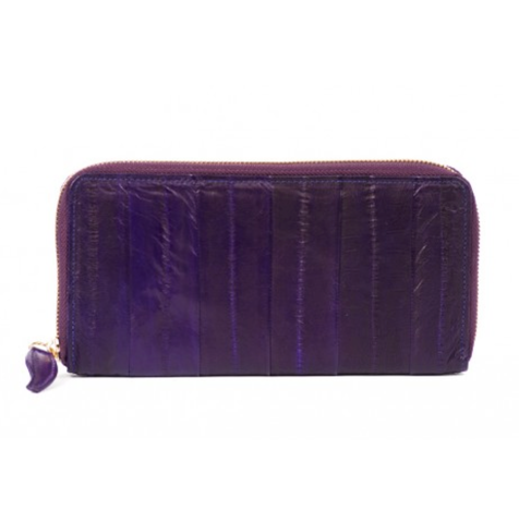Large Zip Purse - Aubergine - IndependentBoutique.com