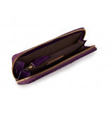 Large Zip Purse - Aubergine