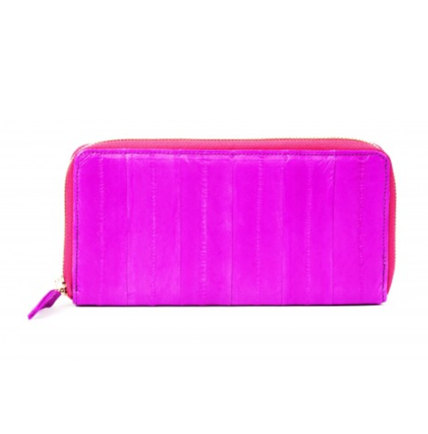 Large Zip Purse - Hot Pink - IndependentBoutique.com