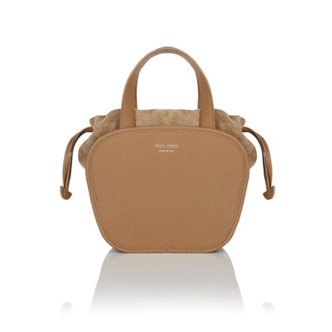 Tan rosetta cross body bag