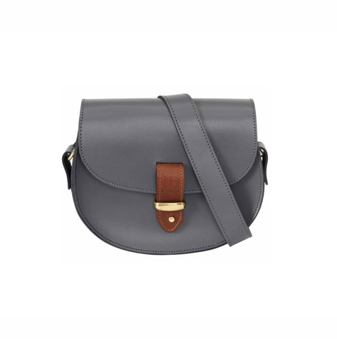 Victoria Grey Saddle Bag