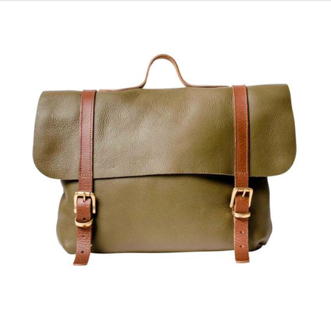 Olive Trilogy-Lux Satchel Rucksack - IndependentBoutique.com