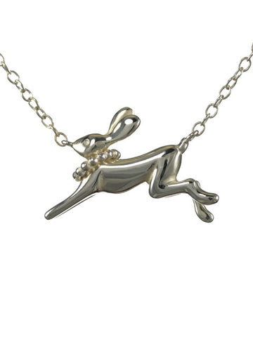 Silver Hare Necklace