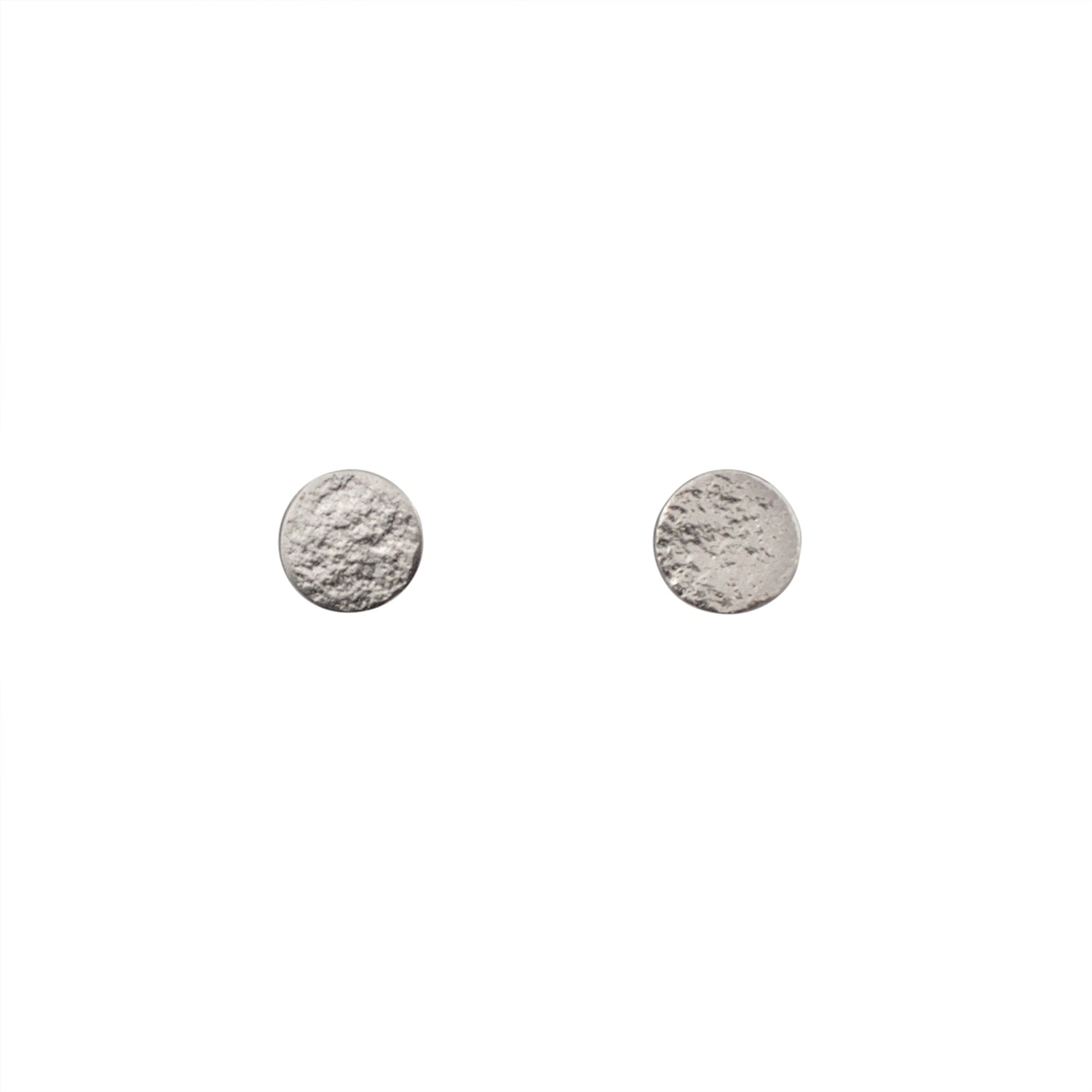 Silver Stud Earrings in Medium