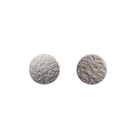 Silver large stud earrings