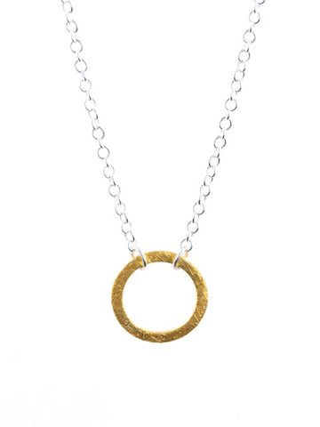 Silver & Gold Circle Necklace - IndependentBoutique.com